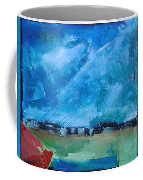 Abstract Coffee Mug featuring the painting Prophesy by Tim Nyberg