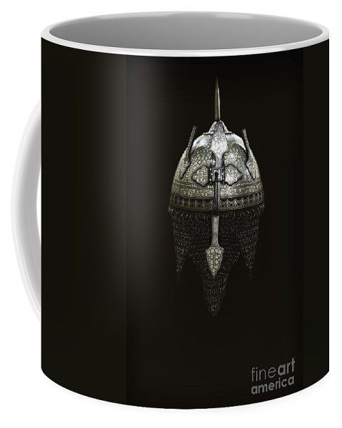 Helmet Coffee Mug featuring the photograph Protect by Margie Hurwich