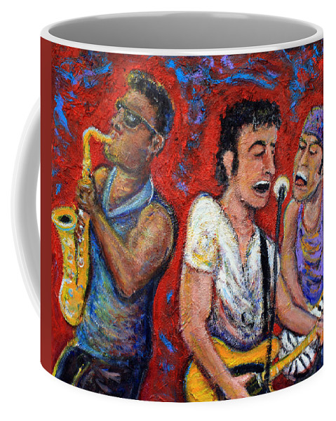 Bruce Springsteen Coffee Mug featuring the painting Prove It All Night Bruce Springsteen And The E Street Band by Jason Gluskin