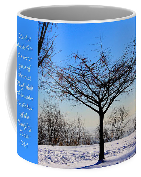 Tree Coffee Mug featuring the photograph Psalm 91 V 1 by Debbie Nobile