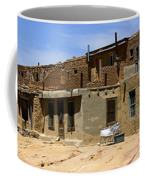 Pueblo Coffee Mug featuring the photograph Pueblo Yard Sale by Joe Kozlowski
