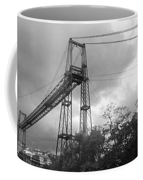 Basque Coffee Mug featuring the photograph Puente Colgante by Rafa Rivas