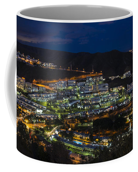 Puerto Coffee Mug featuring the photograph Puerto Rico By Night by Rob Hawkins