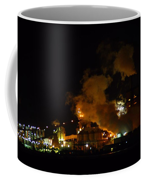 Pulp Mill Coffee Mug featuring the photograph Pulp Mill by Kathryn Meyer