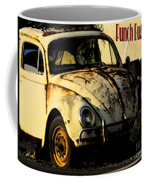 Volkswagon Coffee Mug featuring the photograph Punch Buggy Rust by Robyn King