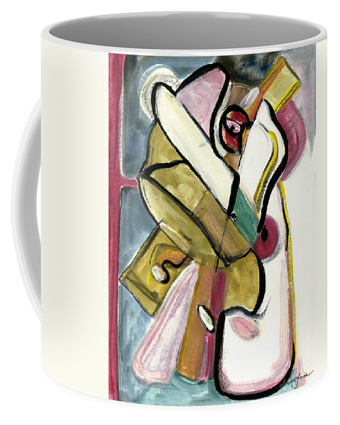Abstract Art Coffee Mug featuring the painting Pure Gold by Stephen Lucas