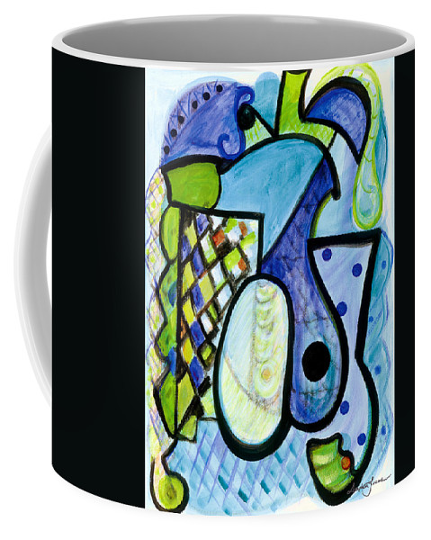 Abstract Art Coffee Mug featuring the painting Pure Perfection by Stephen Lucas