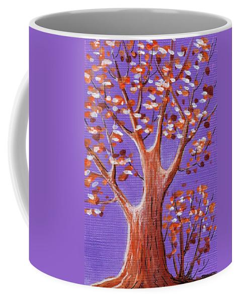 Malakhova Coffee Mug featuring the painting Purple And Orange by Anastasiya Malakhova