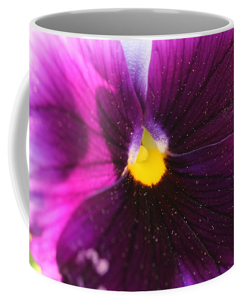 Purple Flower Coffee Mug featuring the photograph Purple And Pollen by Shannon Louder