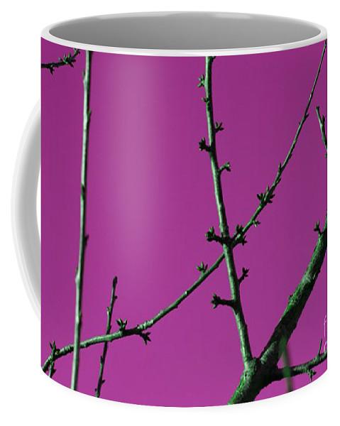 Purple Coffee Mug featuring the digital art Purple Branches by Carol Lynch
