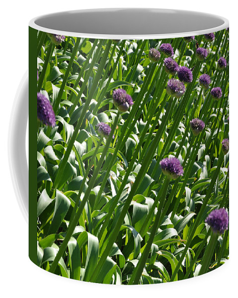 Flowers Coffee Mug featuring the photograph Purple Caps by Kirt Tisdale