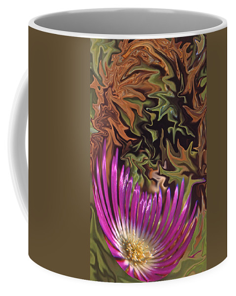 Flower Coffee Mug featuring the photograph Purple Flower Abstract by Ana Gonzalez