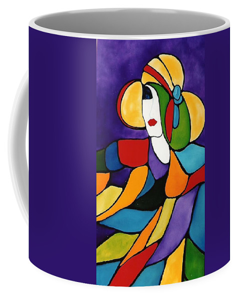 Lady Coffee Mug featuring the painting Purple by Lord Frederick Lyle Morris