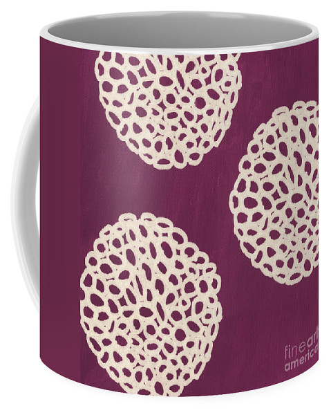 Purple Coffee Mug featuring the painting Purple Garden Bloom by Linda Woods