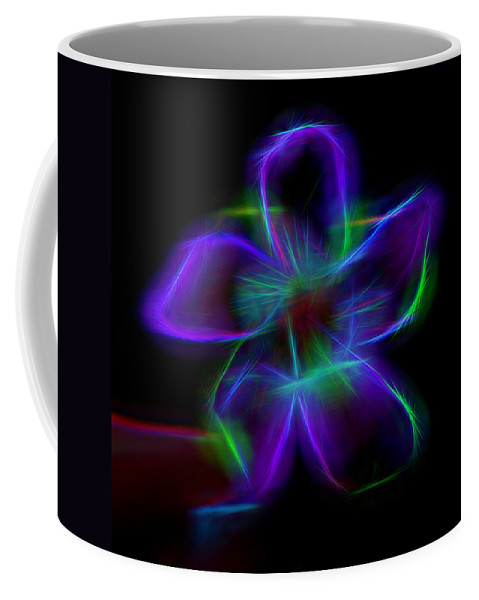 Flower Coffee Mug featuring the mixed media Purple Haze by Pamela Walton