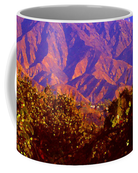 Landscapes Coffee Mug featuring the painting Purple Mountains Majesty by Amy Vangsgard