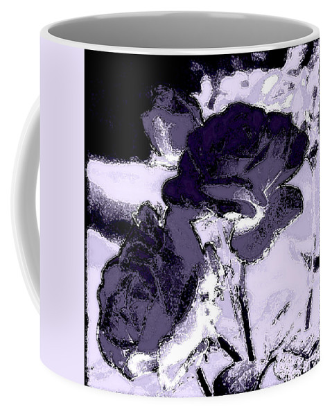 Flower Coffee Mug featuring the photograph Purple Roses by Kathy Sampson