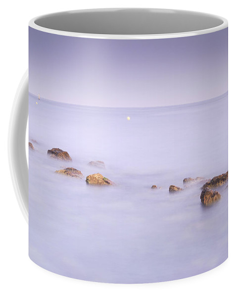 Water Coffee Mug featuring the photograph Purple Seascape by Guido Montanes Castillo