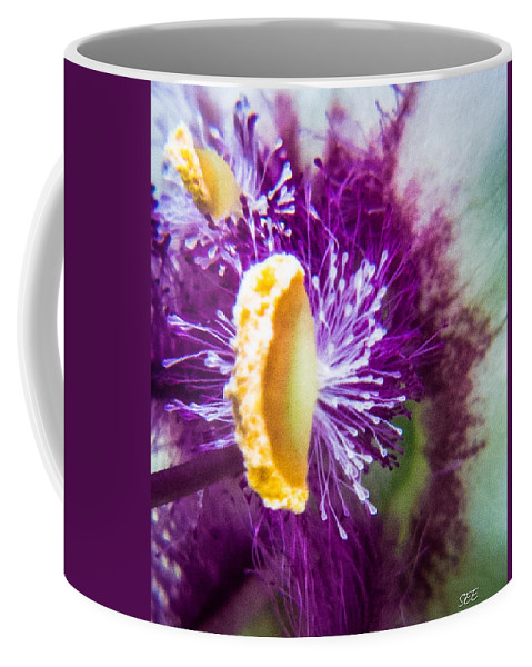 Abstract Coffee Mug featuring the photograph Purple Surprise by Susan Eileen Evans