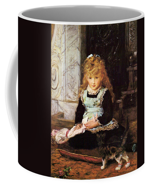 John Everett Millais Coffee Mug featuring the painting Puss In Boots by Celestial Images