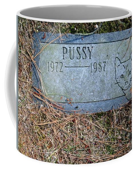 Tombstone Coffee Mug featuring the photograph Pussy by Ed Weidman