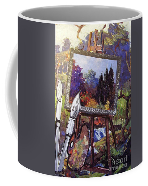 Easel Coffee Mug featuring the painting Put Color In Your Life by Eloise Schneider