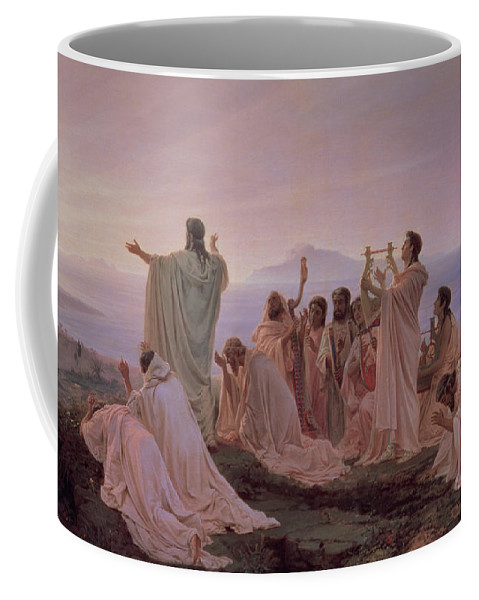 Pythagorean Coffee Mug featuring the painting Pythagoreans' Hymn To The Rising Sun by Fedor Andreevich Bronnikov