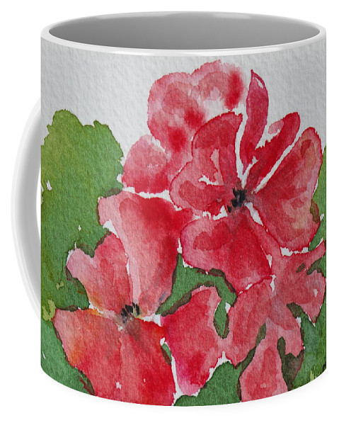 Floral Coffee Mug featuring the painting Pzzzazz by Mary Ellen Mueller Legault