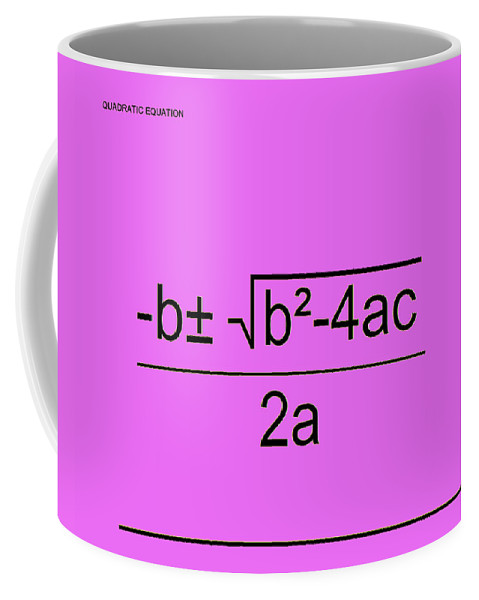Featured Coffee Mug featuring the digital art Quadratic Equation Pink-black by Paulette B Wright