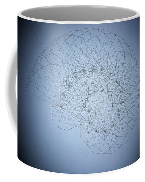 Seashell Coffee Mug featuring the drawing Quantum Nautilus Spotlight by Jason Padgett