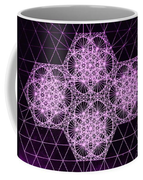 Quantum Coffee Mug featuring the drawing Quantum Snowfall by Jason Padgett