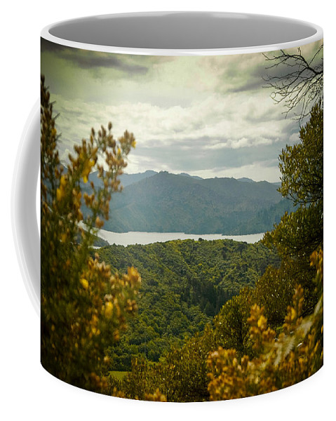 Canvas Coffee Mug featuring the photograph Queen Charlotte Sound by Mark Llewellyn