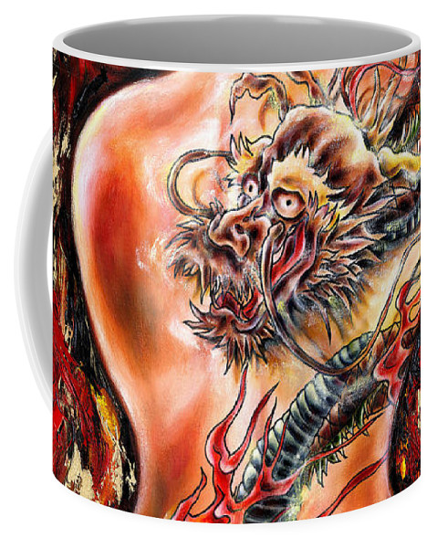 Nude Coffee Mug featuring the painting Queer Fruit by Hiroko Sakai