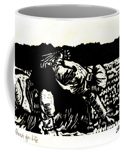 Old South Coffee Mug featuring the relief Quest for Life by Seth Weaver