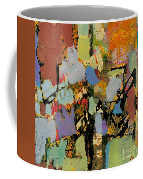 Landscape Coffee Mug featuring the painting Quick Racing by Allan P Friedlander
