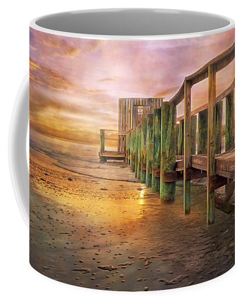 Topsail Coffee Mug featuring the digital art Quiet Colors by Betsy Knapp