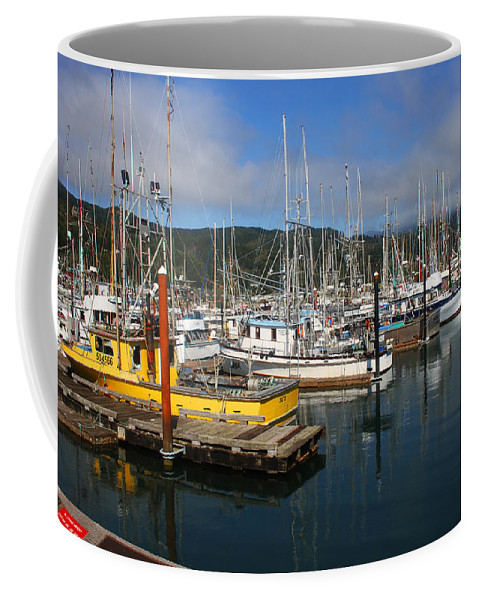 Quiet Time At The Harbor Coffee Mug featuring the photograph Quiet Time At The Harbor by Tom Janca