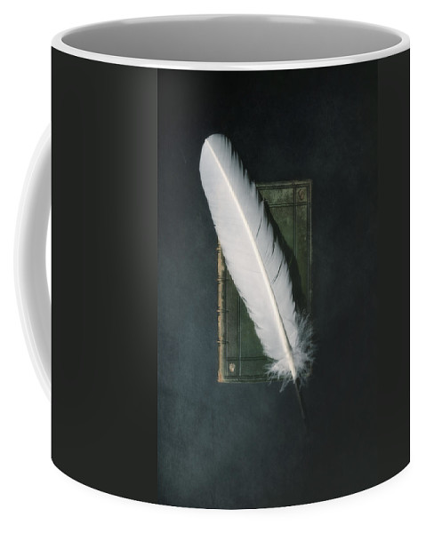 Book Coffee Mug featuring the photograph Quill And Book by Joana Kruse