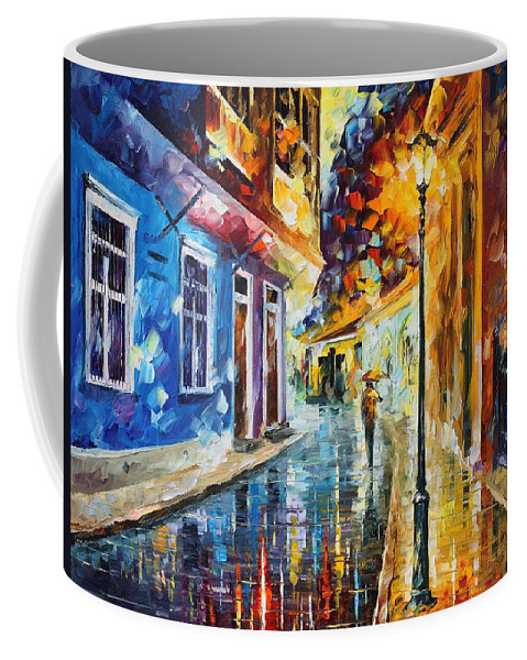 Oil Paintings Coffee Mug featuring the painting Quito Ecuador - Palette Knife Oil Painting On Canvas By Leonid Afremov by Leonid Afremov