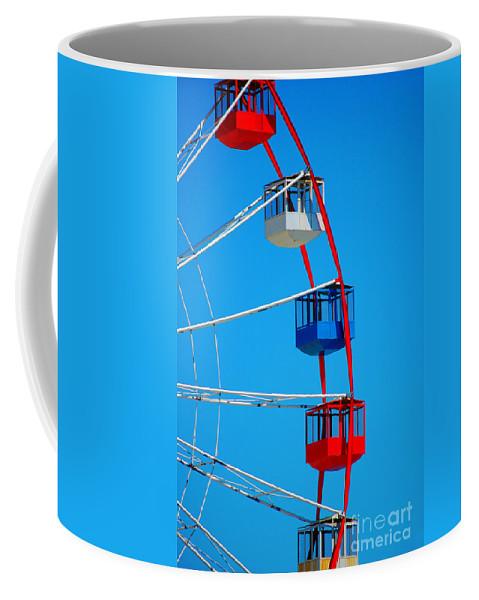 Ferris Wheel Coffee Mug featuring the photograph Radian by Chanel Fernandez