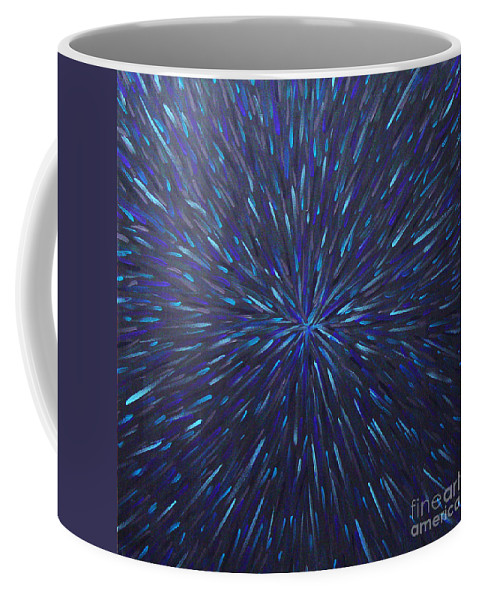 Abstract Coffee Mug featuring the painting Radiation Grey by Dean Triolo