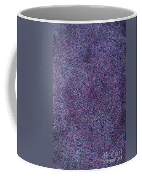 Abstract Coffee Mug featuring the painting Radiation Violet by Dean Triolo