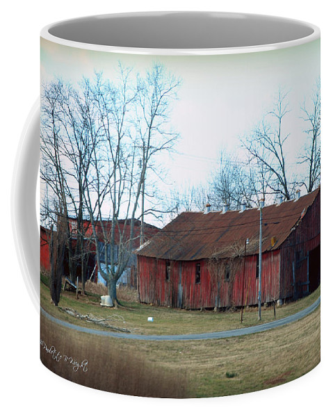 Featured Coffee Mug featuring the photograph Ragged Red Shed I by Paulette B Wright