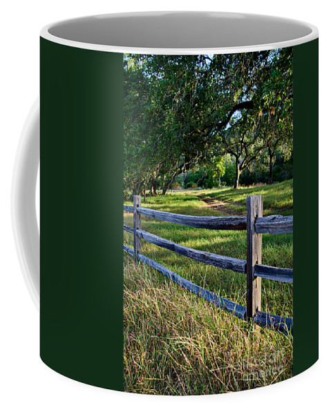 Rail Fence Coffee Mug featuring the photograph Rail Fence Scenic II by Gary Richards
