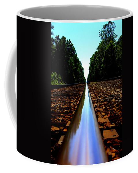 Rail Line Coffee Mug featuring the photograph Rail Line by Shannon Louder