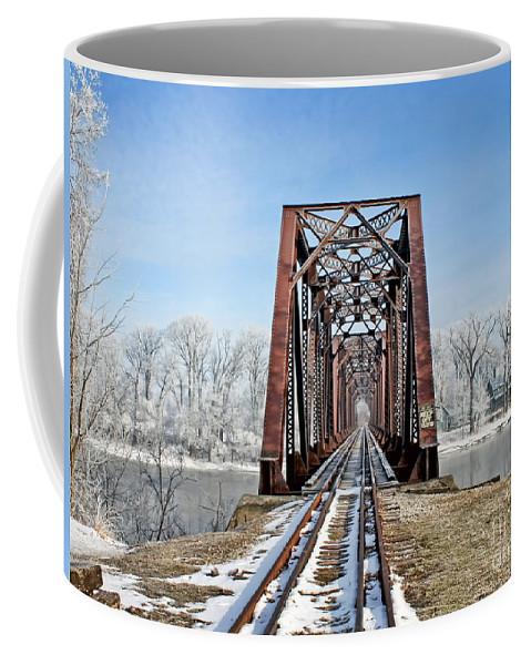Railroad Bridge Coffee Mug featuring the photograph Railroad Bridge by Jack Schultz