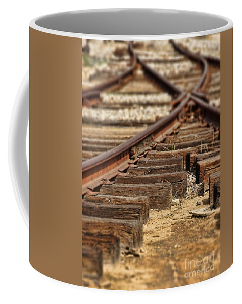 Transportation Coffee Mug featuring the photograph Railway by Peggy Hughes