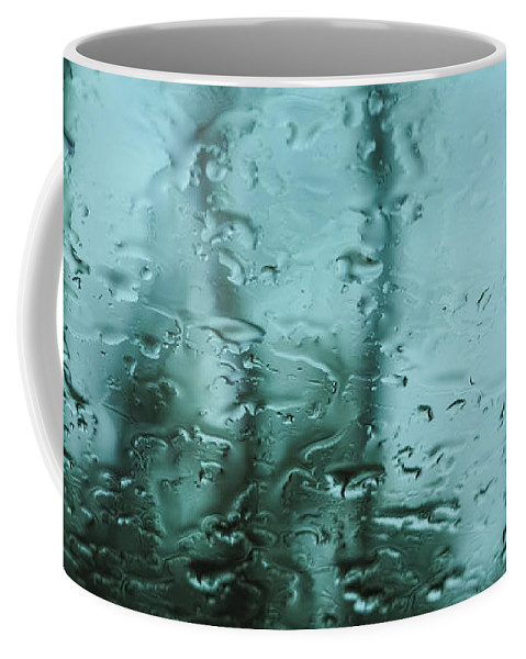 Dreary Coffee Mug featuring the photograph Rain On Bare Trees by Lars Lentz