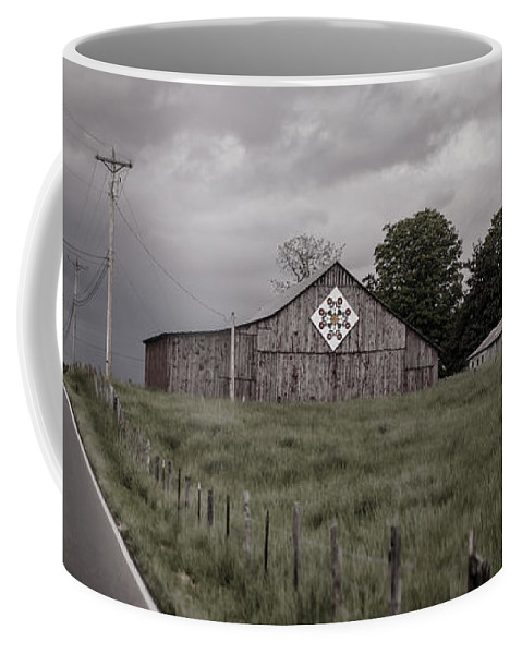 Barn Coffee Mug featuring the photograph Rain Rolling In by Heather Applegate