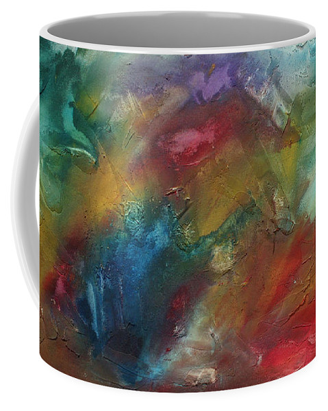 Wall Coffee Mug featuring the painting Rainbow Dreams By Madart by Megan Duncanson